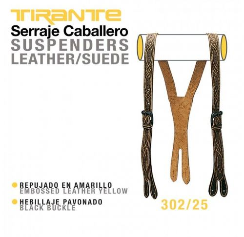 Traditional Spanish leather braces - 'Repujada' style